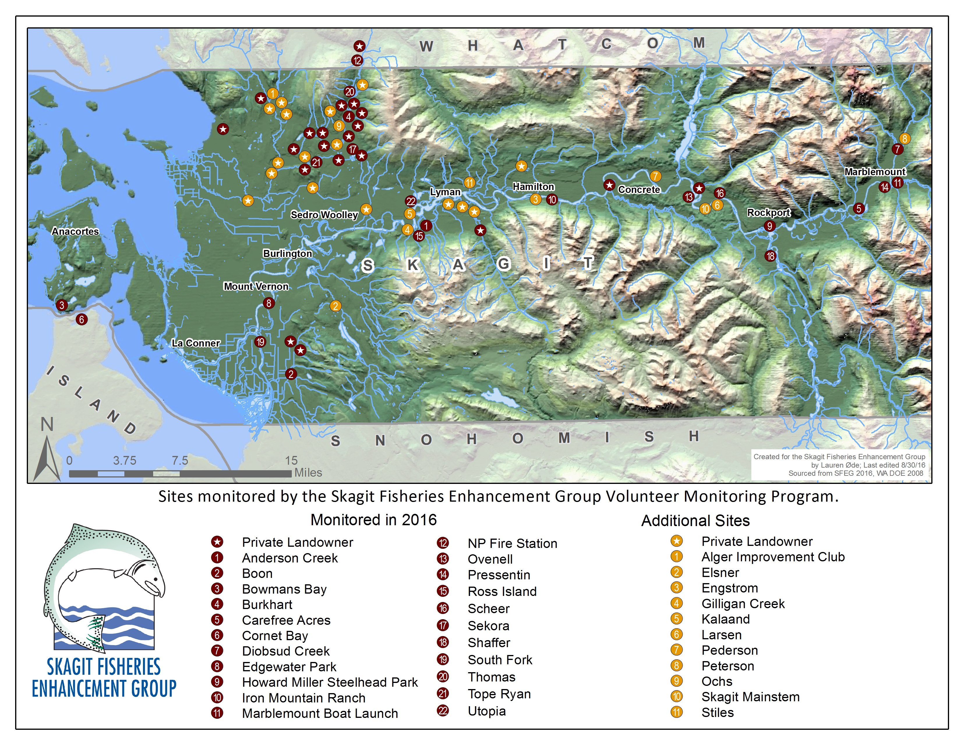 2016 vegetation monitoring overview map